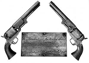 Pistols given by Abraham Lincoln to the Emir